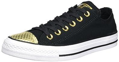 Damen CTAS OX Sneakers, Mehrfarbig (White/Black/White), 36 EU Converse