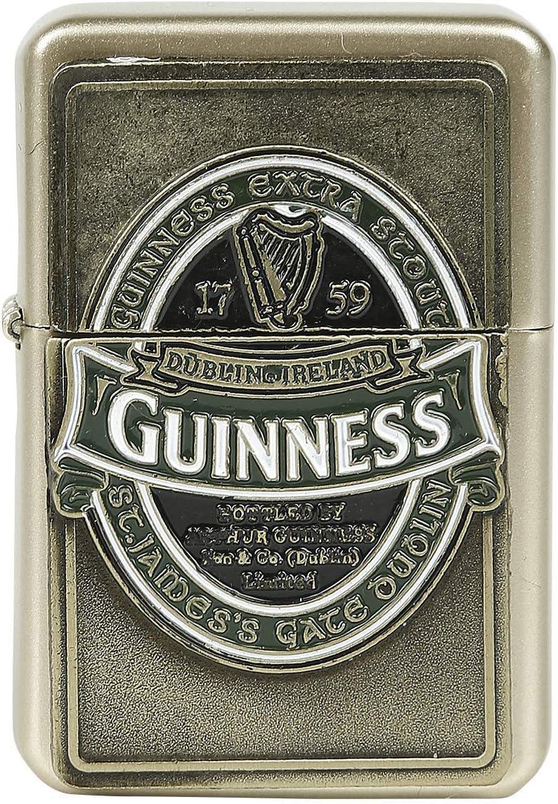 Briquet temp/ête avec bo/îtier dor/é collection Guinness Irlande