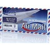 24 style classique Air Mail / Par Avion Chevron bord DL taille gommé Lettre enveloppes.
