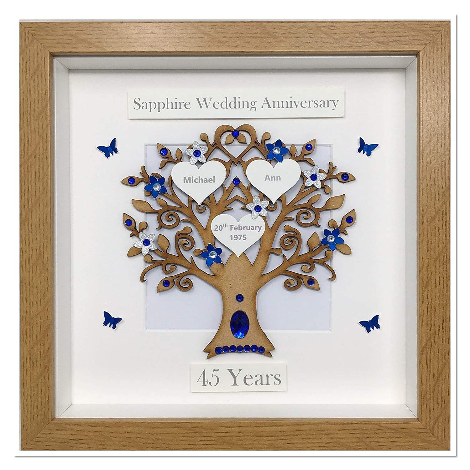 Homemade Personalised 60th Diamond wedding anniversary Frame Special Occasions