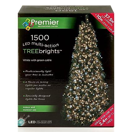1500 Led 37 5m Premier Treebright Christmas Tree Lights White And Warm White