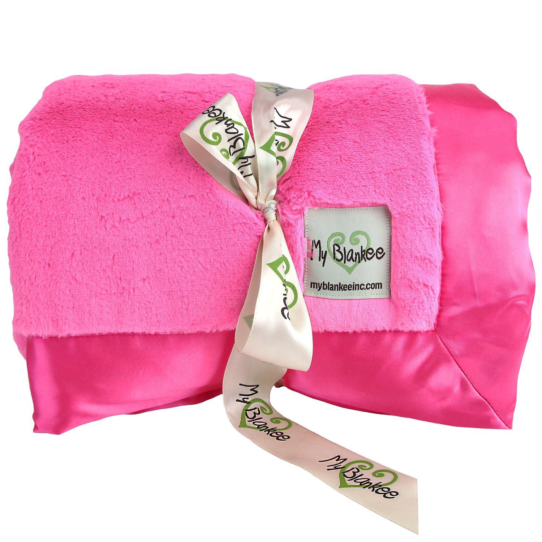 My Blankee Luxe Super Throw Blanket, Raspberry, 60'' X 70''