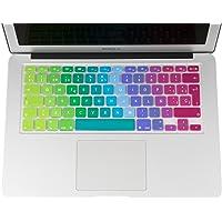 Lenfech Cubre Teclado para MacBook 2012 - 2015 Pro 13 y 15, Air 13/ Retina 15 y Mac Book 2010 - 2017 Air 13. Protector de Teclado en Español de Silicón / Silicona. Protege de Líquidos, Suciedad, Comida y Polvo! Disponible en 13 Colores. (Rainbow)