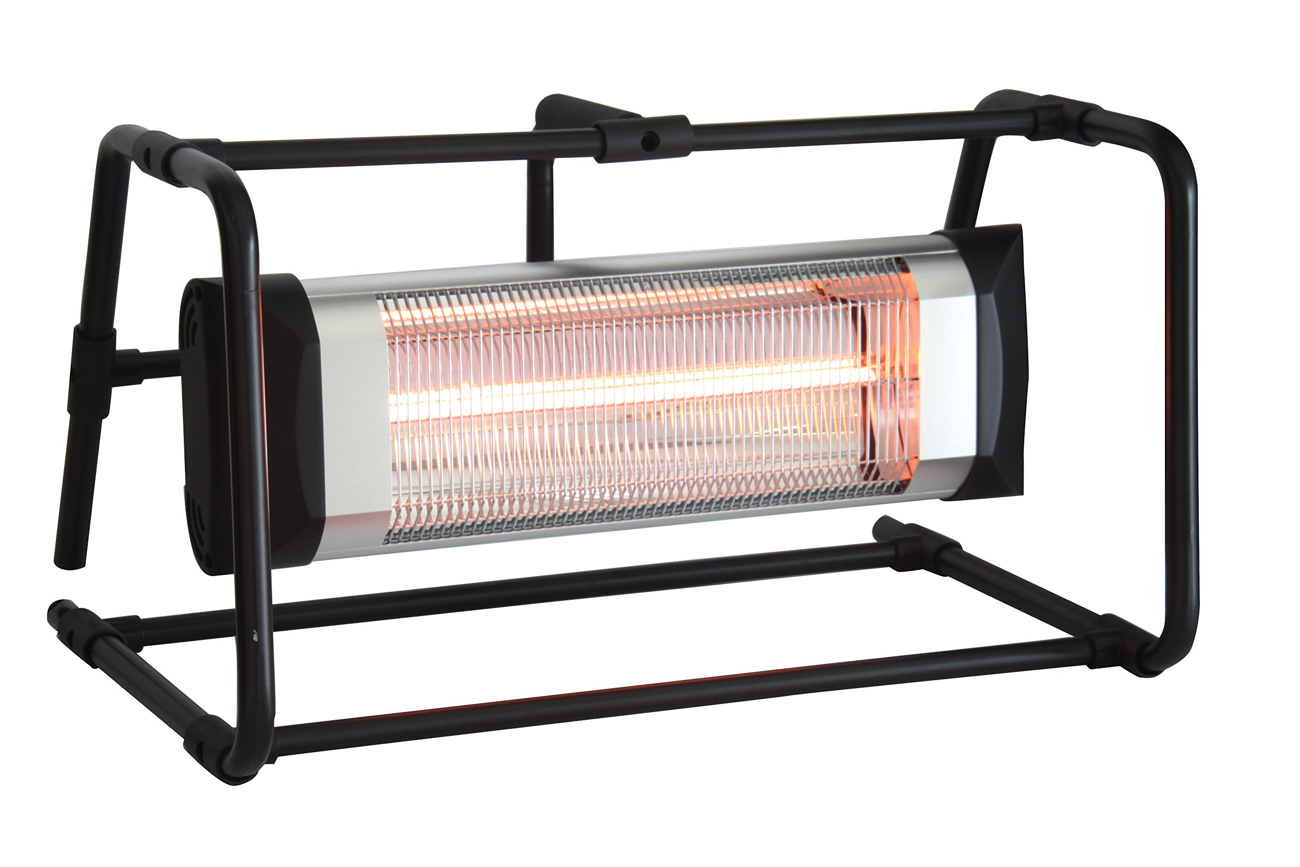 Ener-G+ HEA-21548-BB Infrared Electric Outdoor Heater-Portable, Durable, Heavy Duty, Kids and Pets | Construction, Garage | 120V, Water/Dust Resistant, Overheat Protection, Safe for Environment, Black by Ener-G+