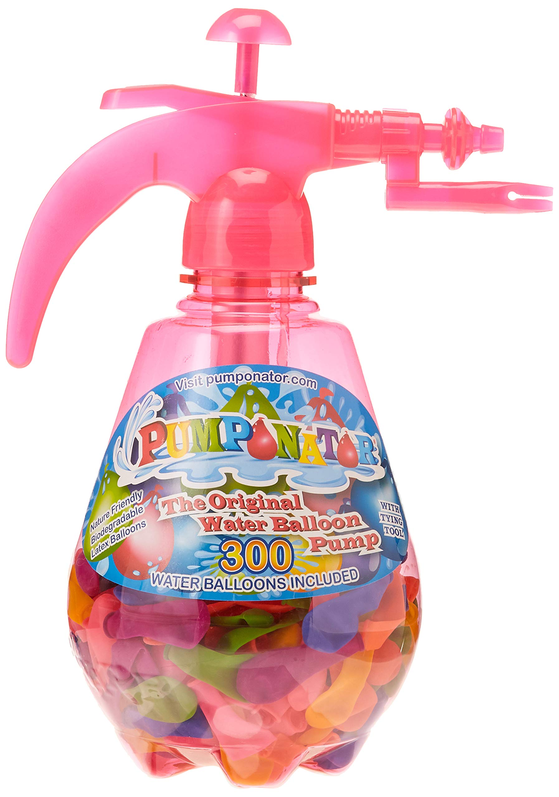 Pumponator Water Balloon Pump (Pink) and Tube o' Balloons Gift Bundle Set by Pumponator (Image #1)