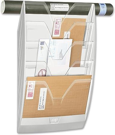 CEP 1001540011 Wandprospekthalter 5 F/ächer 154 schwarz//glasklar