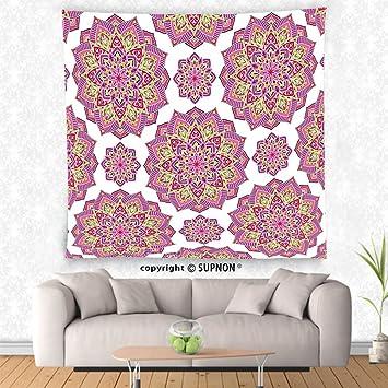 Amazon.com: VROSELV custom tapestry Purple Mandala Tapestry Shabby ...