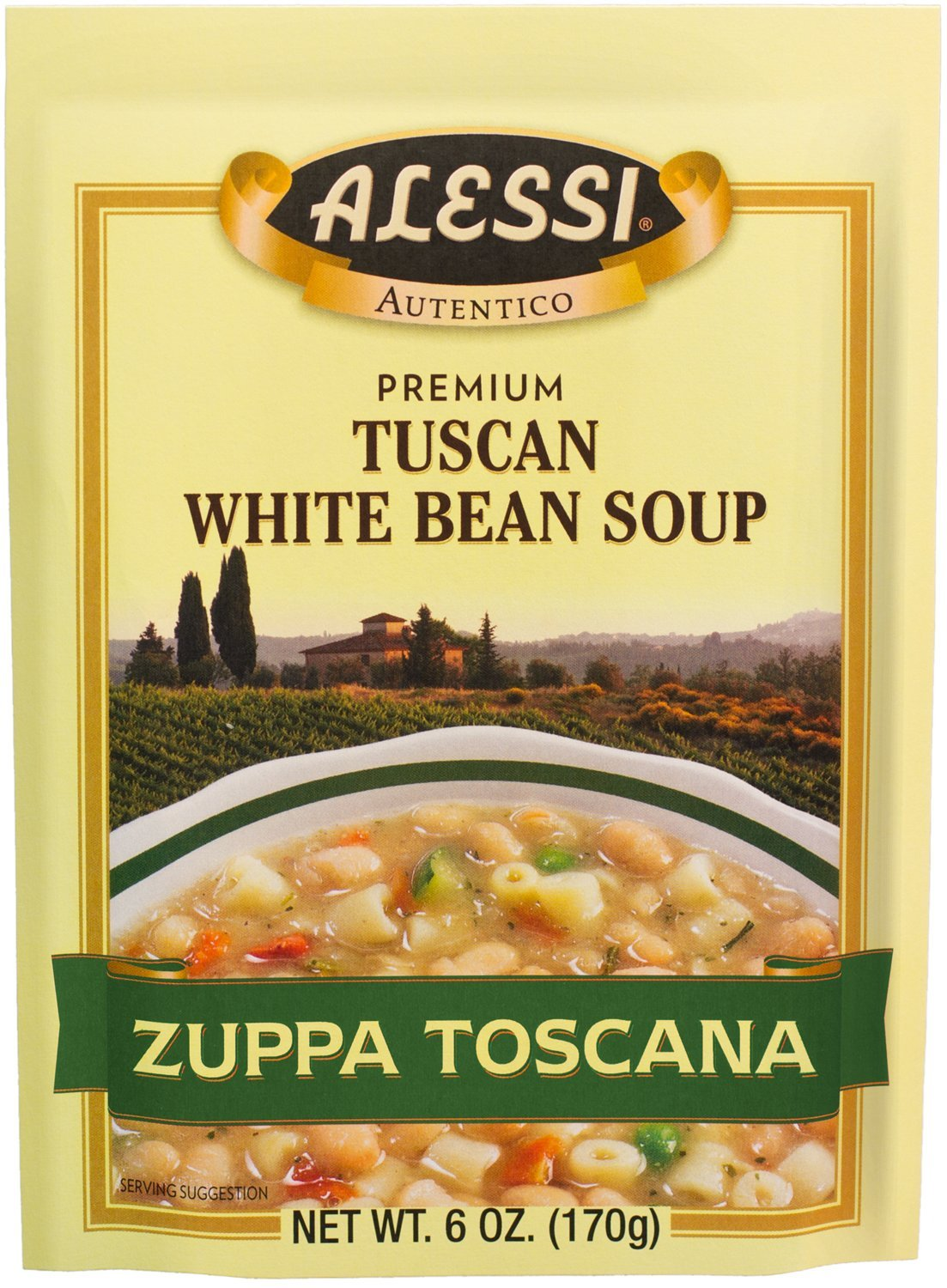 Alessi Zuppa Toscana Tuscan White Bean Soup, 6 Ounce, (Pack of6)