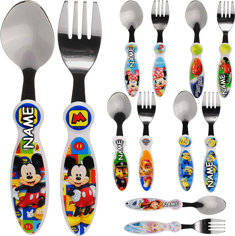 Löffel Kunststoff Kinderbesteck Disney PIXAR CARS 2tlg Kinder Besteck Gabel