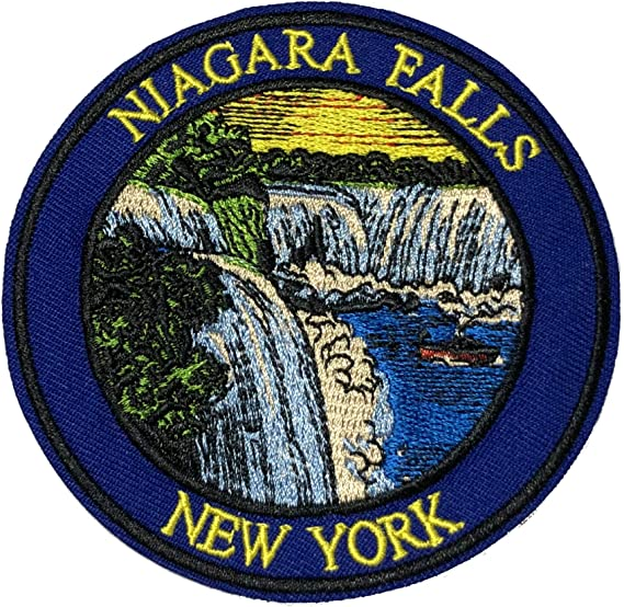 Parche bordado para planchar o coser, diseño de Niagara Falls ...