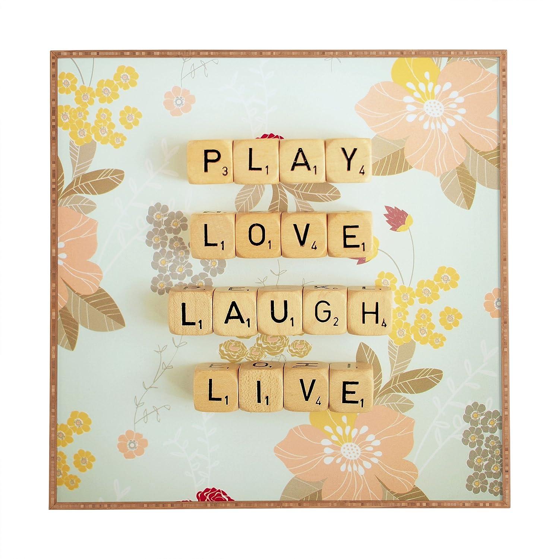 Amazon.com: Deny Designs Happee Monkee Play Love Laugh Live Framed ...