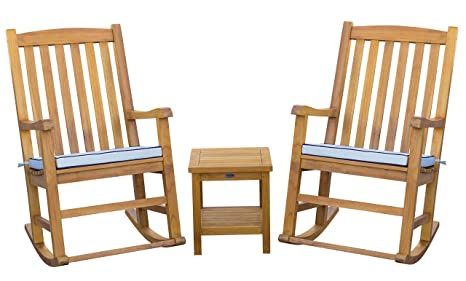 Awe Inspiring Amazon Com 3 Piece Teak Wood Oceanside Outdoor Patio Lounge Gmtry Best Dining Table And Chair Ideas Images Gmtryco
