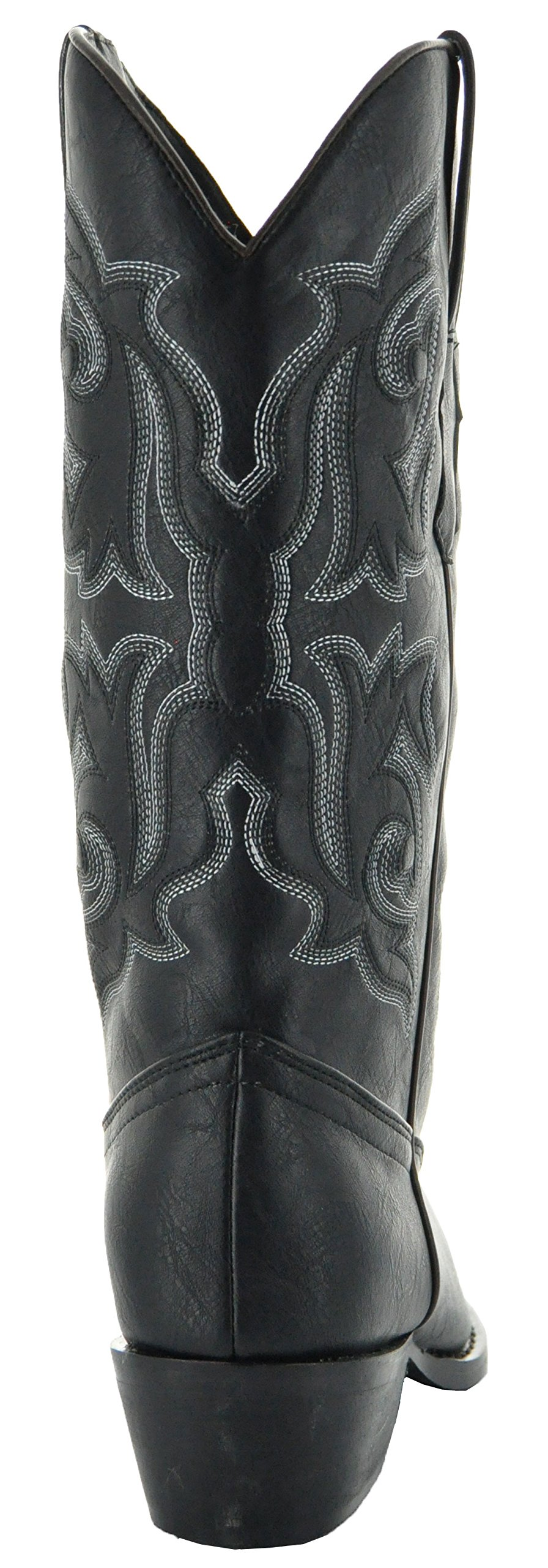 Country Love Pointed Toe Women's Cowboy Boots W101-1001 (7, Black) by Country Love Boots (Image #5)