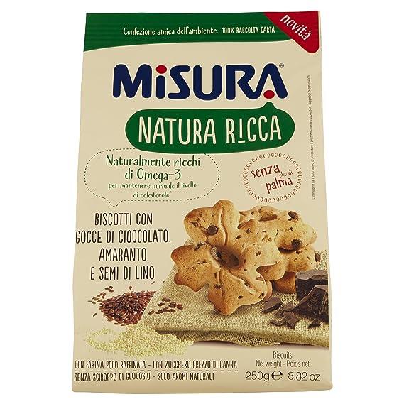 MISURA Galletas Con El Chocolate Gotas Amaranto Y Semillas De Lino Naturaleza Rica 250 Gramos