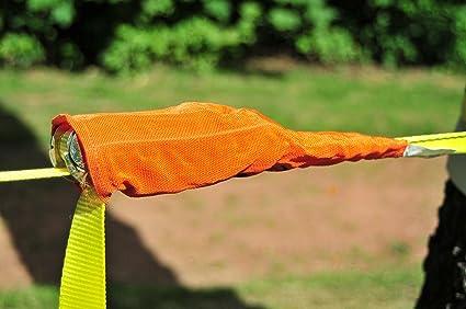 Hudora Lunghezza 15m e 2m con Gancio Ampiezza 38mm Corda per Equilibrio