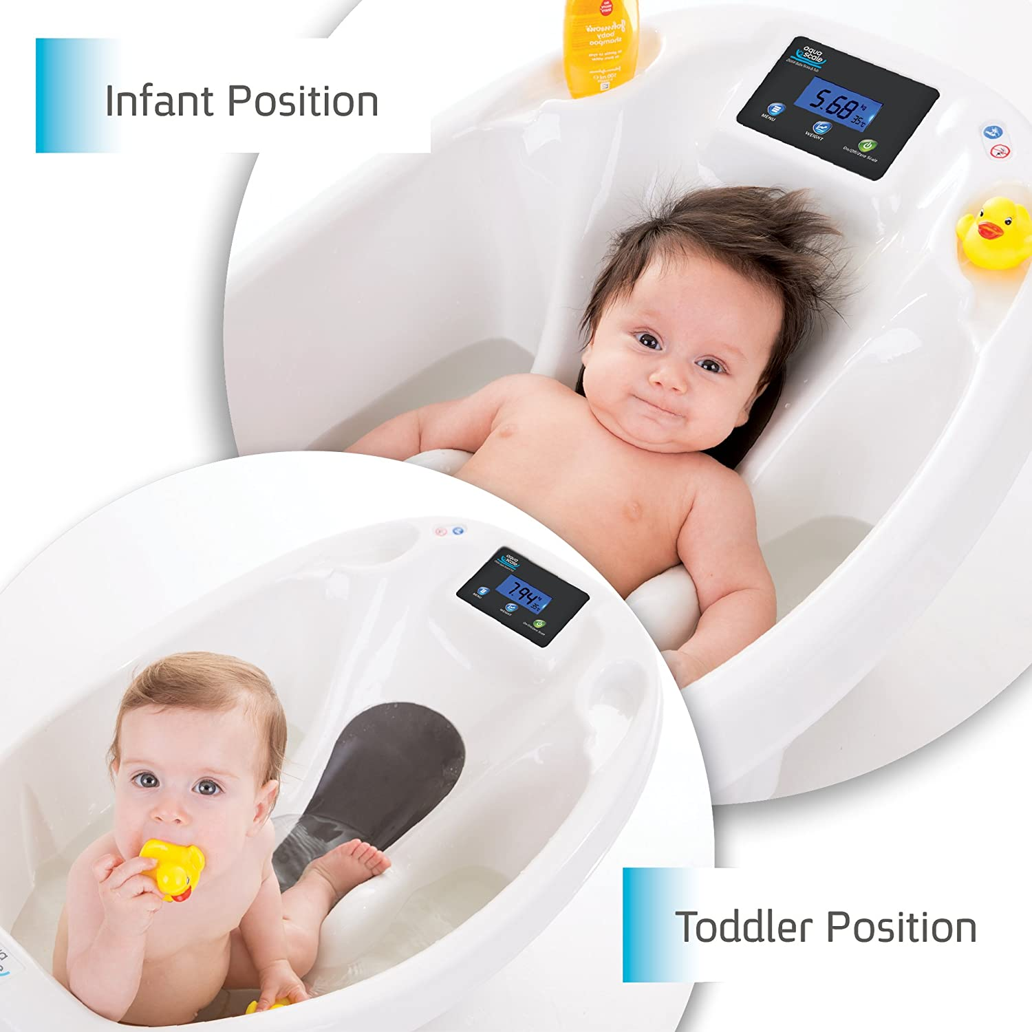 Baby bath Aquascale bath for bathing baby with digital baby scale ...