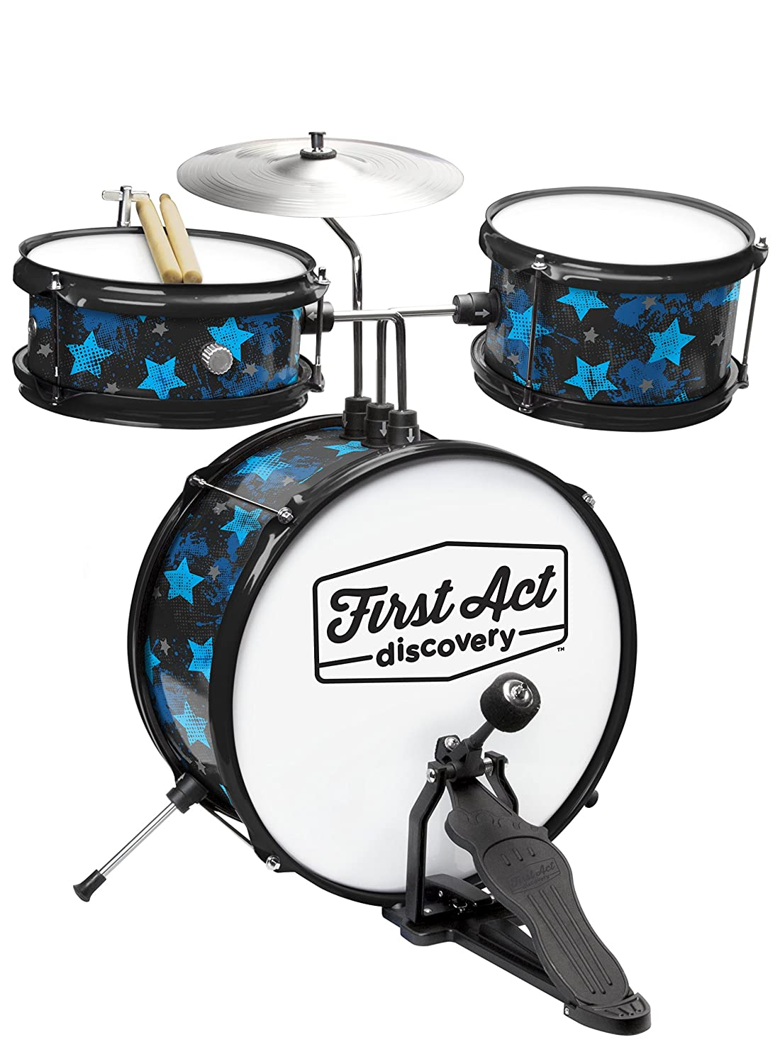 First Act Discovery Drum Set & Seat, Blue Stars First Act Inc. FAD0139
