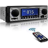 Aigoss Autoradio Bluetooth, Car Stereo Main Libre 4x60W FM Radio Voiture Récepteur avec Lecteur MP3 avec Intégré EQ Compatible avec USB/AUX in / MP3 / FLAC/SD et Télécommande