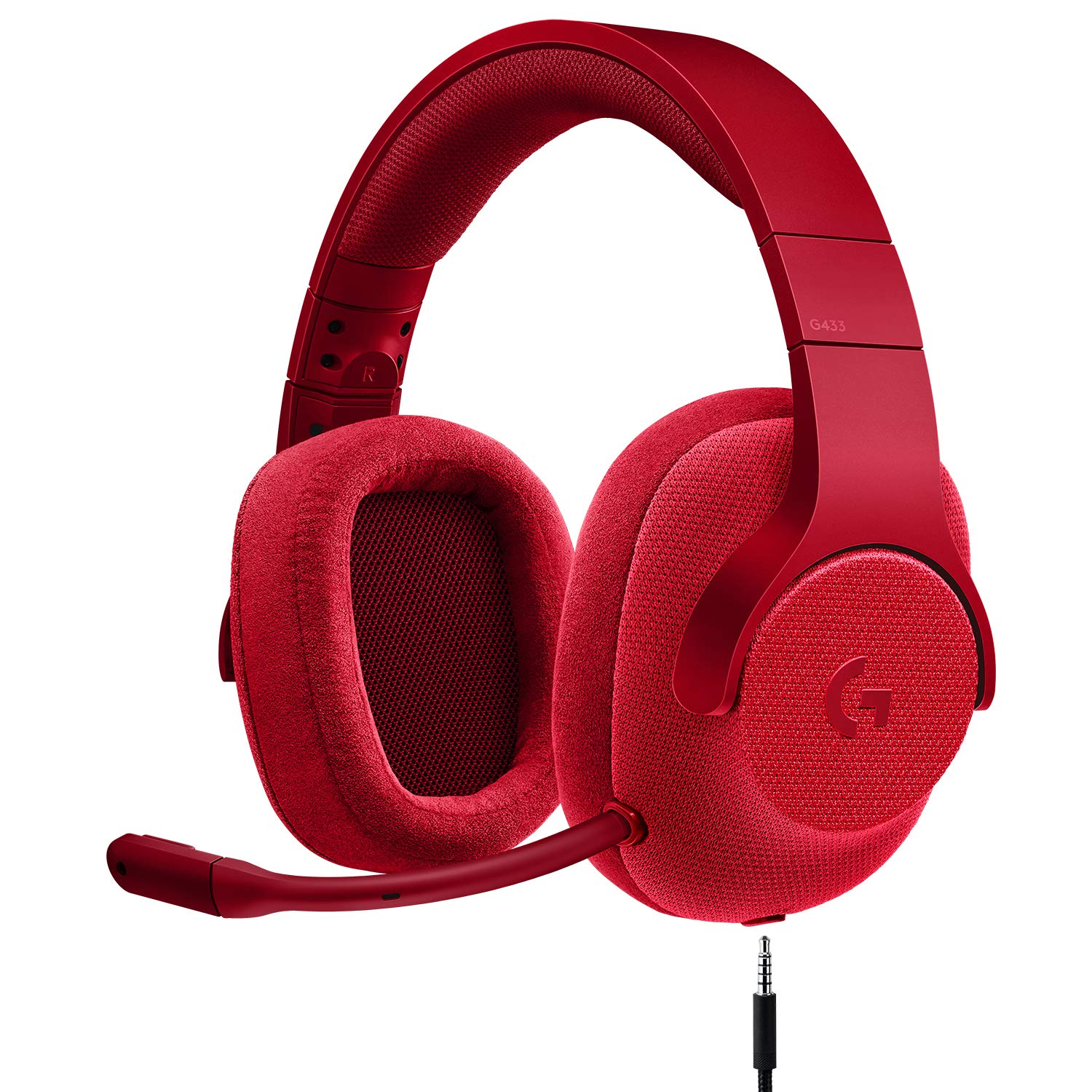 Logitech G433 7.1 Wired Gaming Headset with DTS Headphone: X 7.1 Surround for PC, PS4, PS4 PRO, Xbox One, Xbox One S, Nintendo Switch - Fire Red by Logitech G