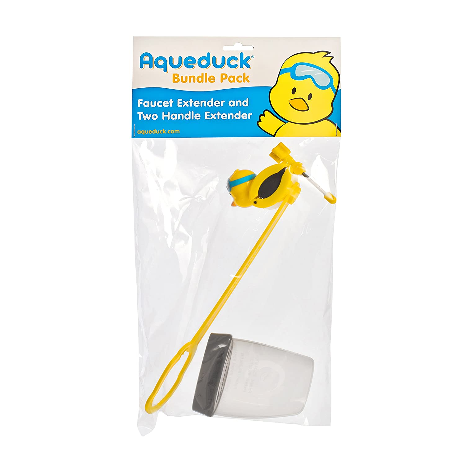 Amazon.com : Aqueduck Faucet Handle Extender Set. Connects to Sink ...