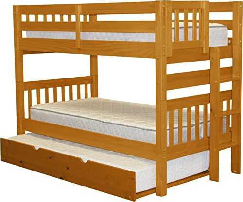 Bedz King Bunk Beds Twin over Twin Mission Style