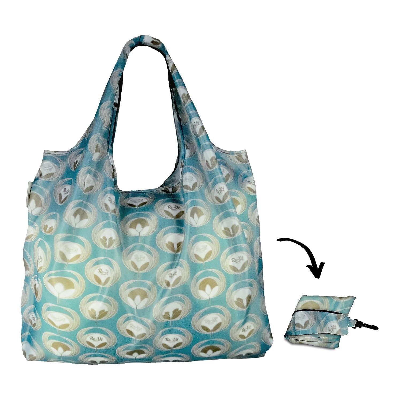 Re-uz Lifestyle XL Shopper –  Flower Power –  tela vaquera –  respetuoso con el medio ambiente reutilizable plegable Compras bolsa de la compra