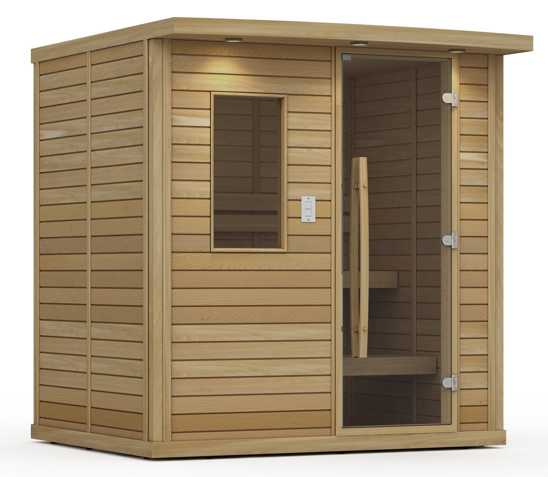 Goldstar 1250-B Prebuilt Traditional Sauna w/ Canopy & Lights by Goldstar
