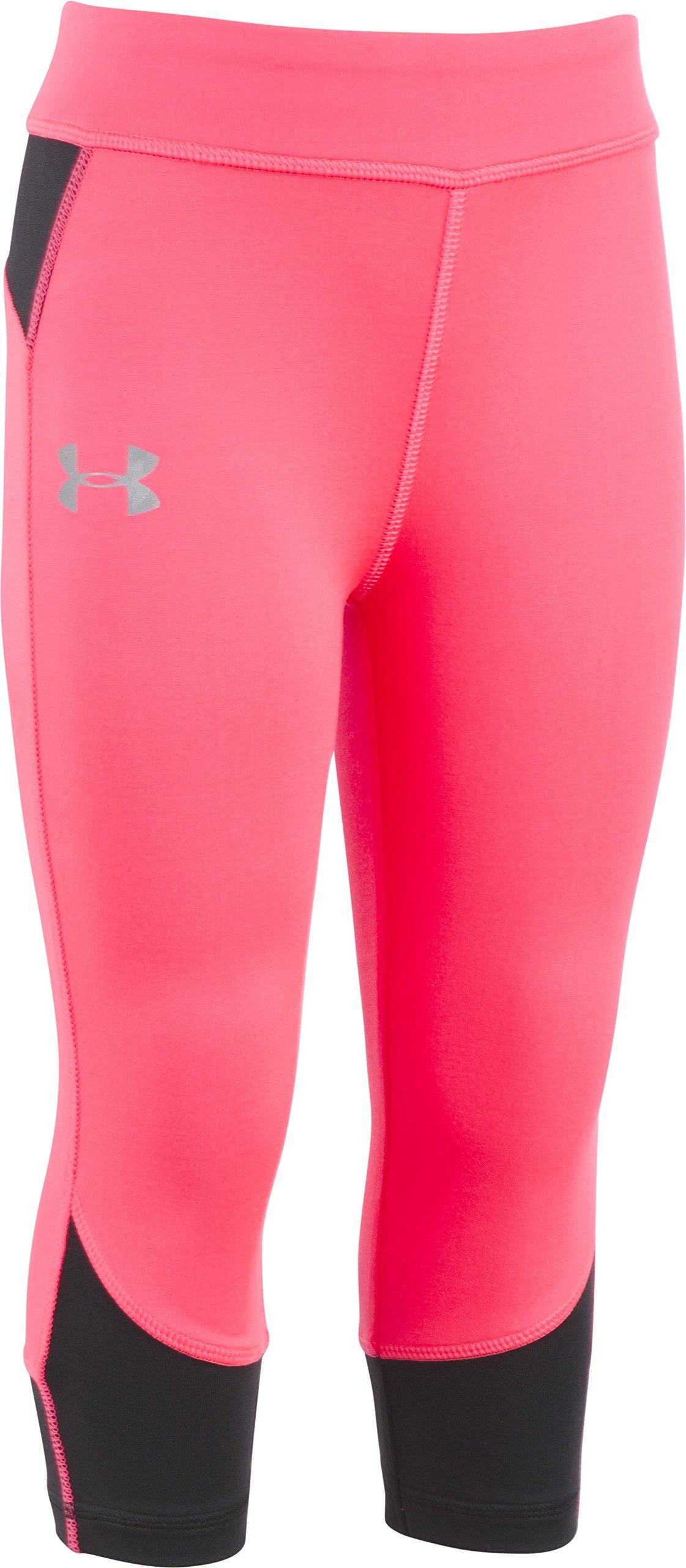 Under Armour Little Girls' Core Active Capri Legging, Penta Pink, 6