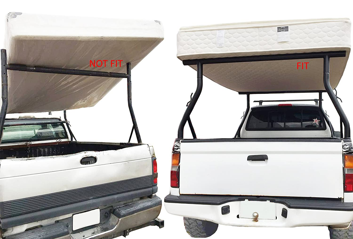TMS 800LB Universal Pick Up Truck Ladder Rack Contractor Pick Up Rack Lumber Utility T-Motorsports