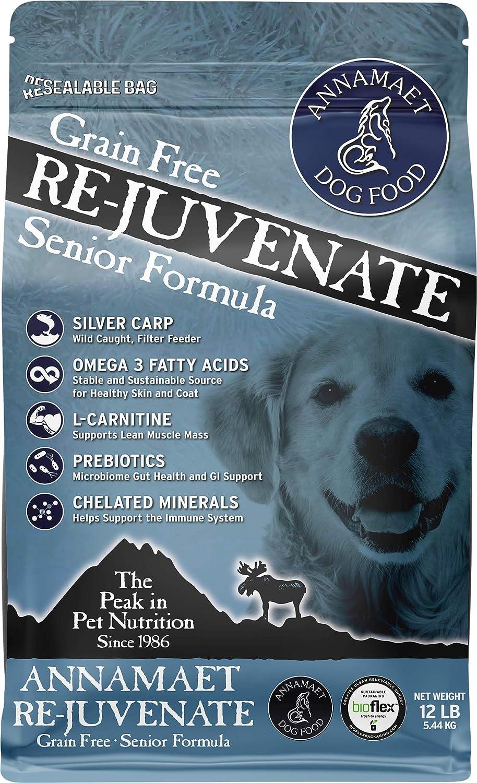 Annamaet Grain-Free Re-Juvenate Senior Formula Dry Dog Food, (Fresh Silver Carp & Turkey)