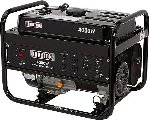Ironton Portable Generator – 4000 Surge Watts, 3200 Rated Watts