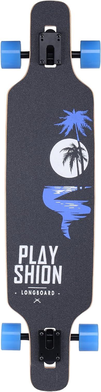 Playshion Drop Through Freestyle Longboard - 1