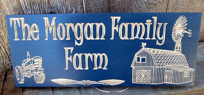 Amazon com: Family Farm Sign, Farm House Established Sign