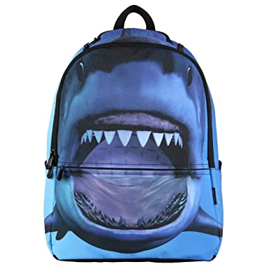 23aa2bb51a6c Hynes Eagle Printed Kids School Backpack Cool Children Bookbag Shark