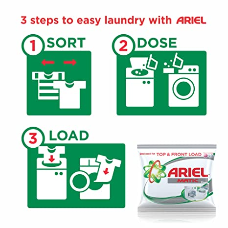 ariel matic detergent powder 500 g pack sample amazonin cloudtail india
