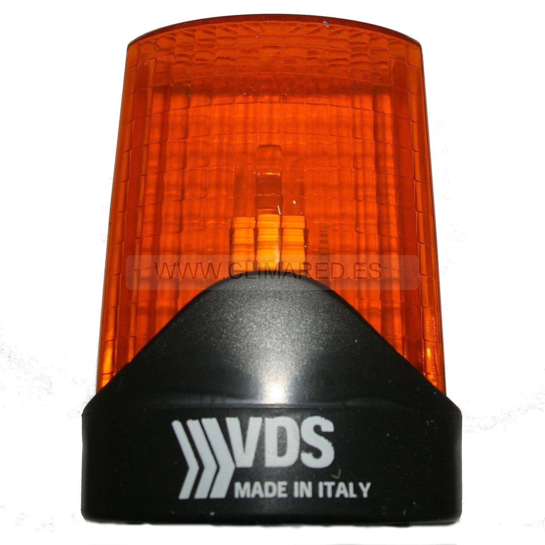 VDS Lampara destellante led luz de intermitencia para puertas de garaje automaticas y parking, señ alizacion maniobra puerta, luz aviso intermitencia seguridad señalizacion maniobra puerta Automatismos y domotica