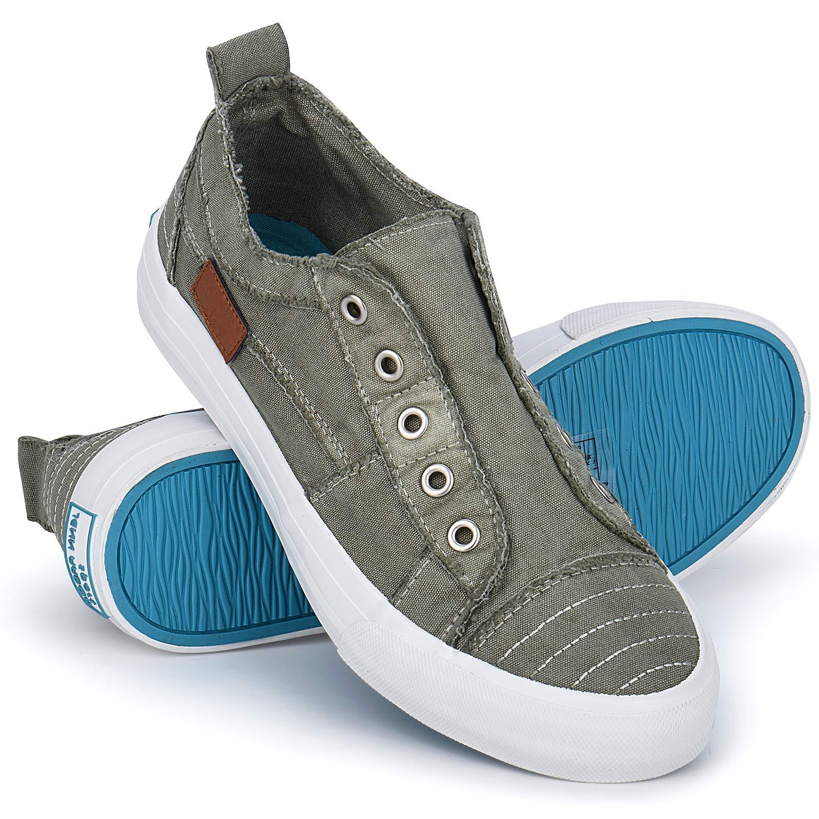 JENN ARDOR Womens Canvas Sneaker Shoes Fashion Slip on Low Tops Shoes