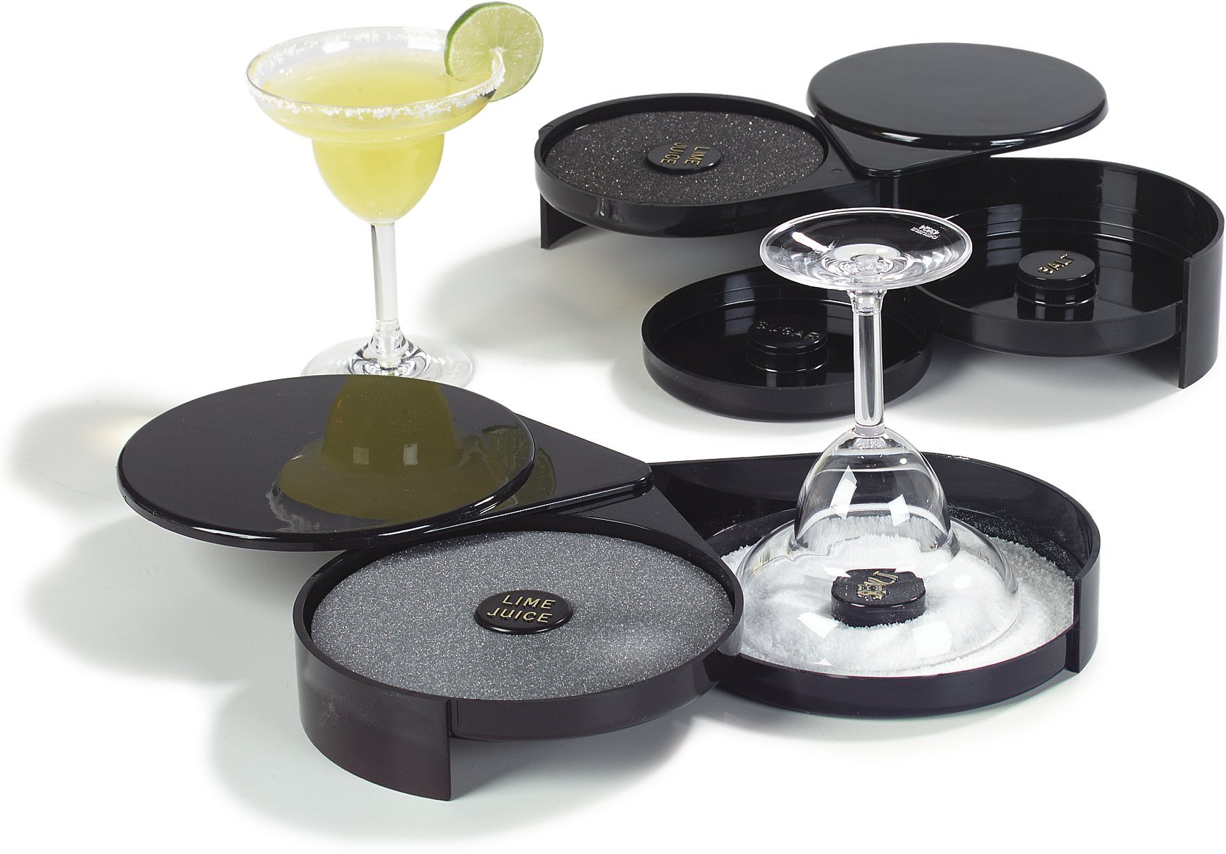 Carlisle GR1003 2-Tier Acrylic Margarita And Cocktail Glass Rimmer, Black (Case of 12) by Carlisle (Image #3)