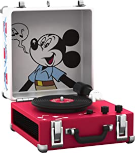 Hallmark Keepsake Christmas Ornament 2019 Year Dated Disney Mickey Mouse Record Player Musical (Plays Jingle Bells)