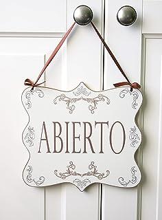 Placa Aluminio | Cartel para Colgar Abierto - Cerrado ...