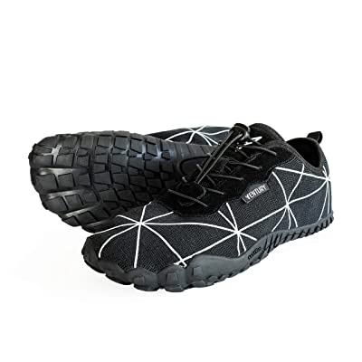 Ventury Zero Barefoot Trail Running Shoes - Minimalist Runners with Wide Toe Box, Zero Drop Sole and Odor-Free Insole with Real Silver for Men and Women | Shoes