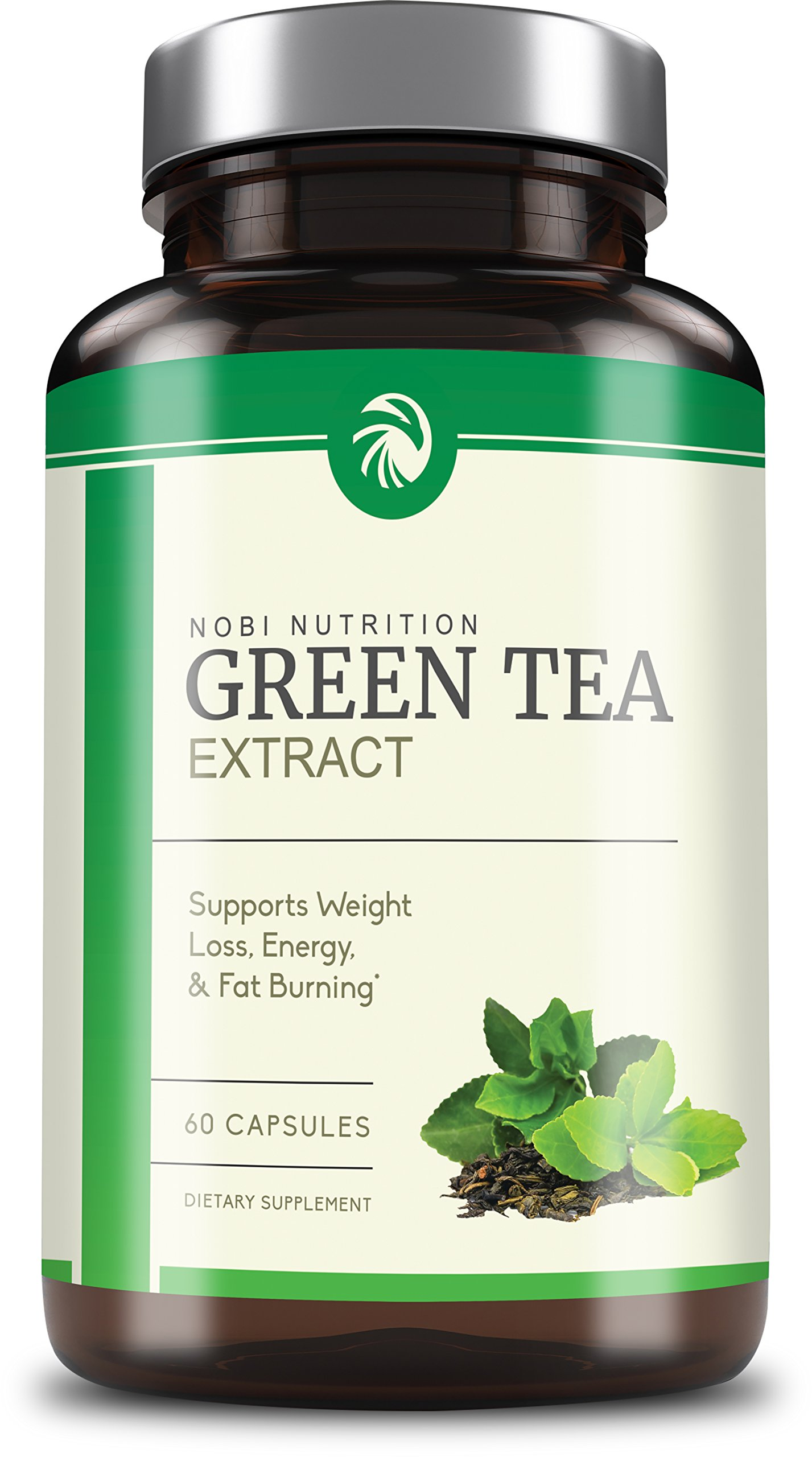 Nobi Nutrition's Green Tea Extract Supplement with EGCG for Weight Loss - Metabolism Boost and Heart Health - Caffeine Boost & Energy Supplement - All Natural Antioxidant