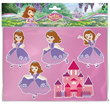 Lena 65791 Drawing Stationery Template Disney Sofia The First 26 X