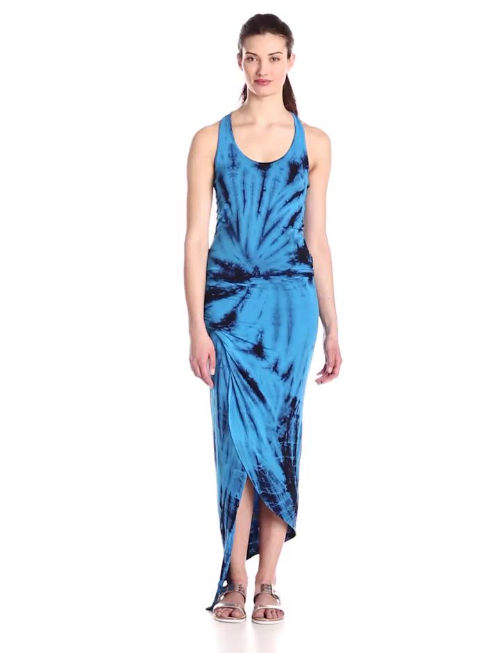 Young Fabulous & Broke Women's Sassy Ruched Waist Maxi Dress, Blue Dreamer Wash, Small