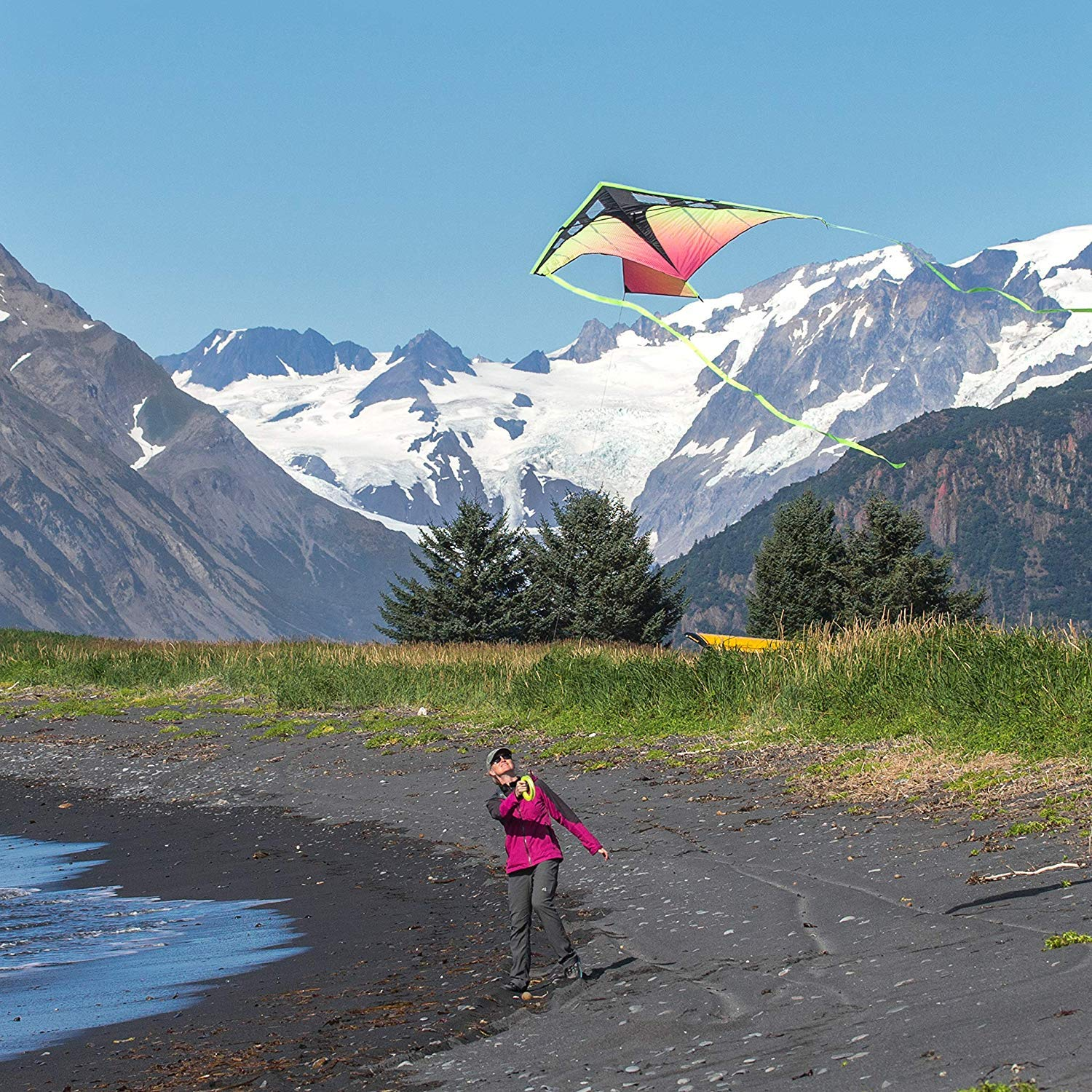 Prism Kite Technology Zenith 7 Infrared Single Line Kite, Ready to Fly with line, Winder and Travel Sleeve by Prism Kite Technology (Image #5)