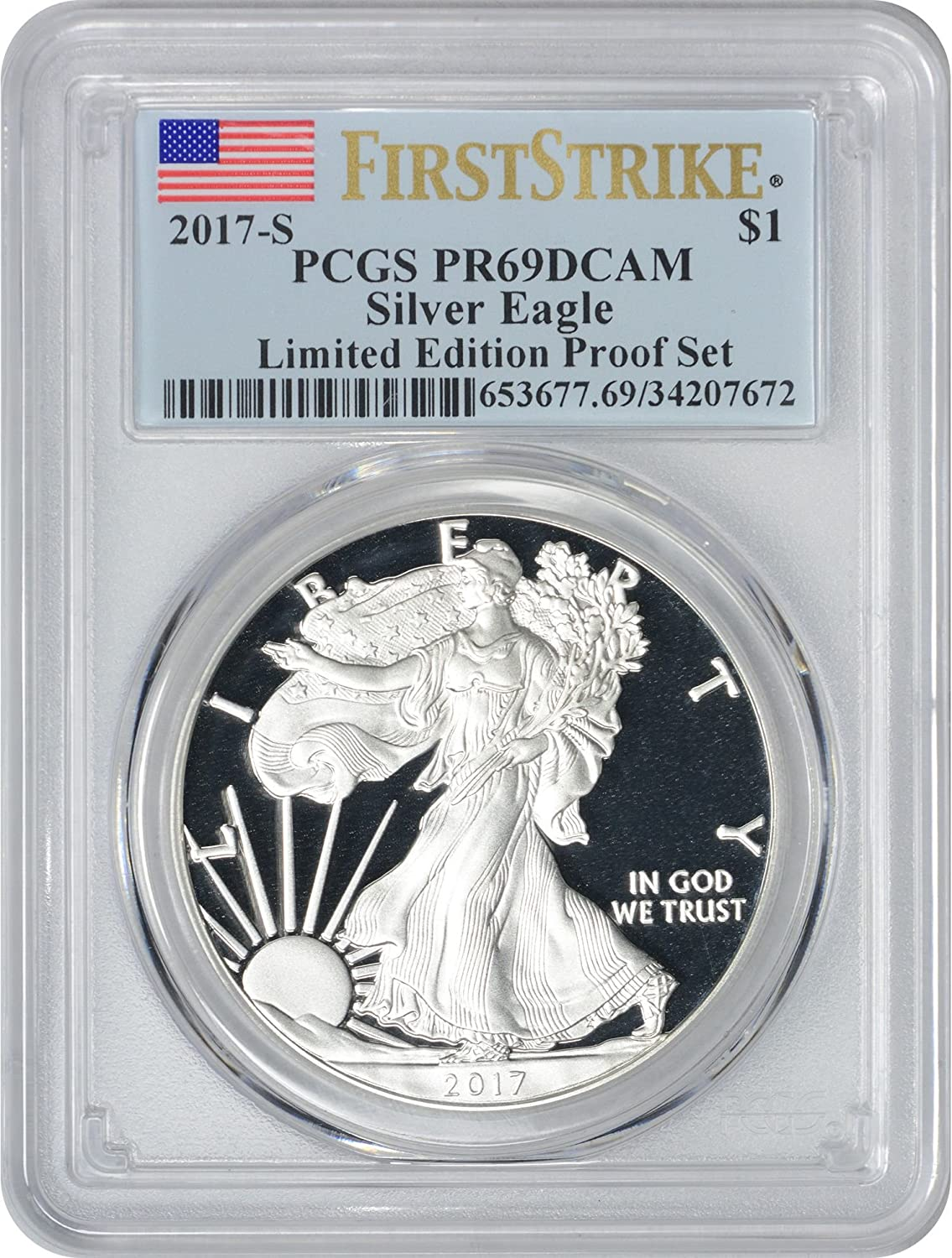 2019 S $1 Proof American Silver Eagle Limited Edition PCGS PR69DCAM First Strike