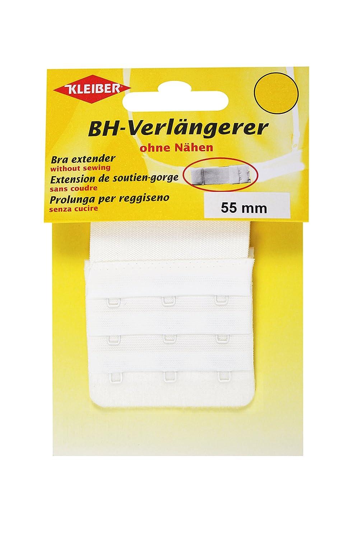 Kleiber - Estensore per reggiseno con ganci 55 mm, bianco 801-35