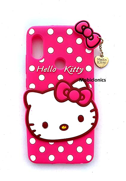 huge selection of ab60e b23ac MOBICLONICS® Cute Hello Kitty Back Cover for Xiaomi Redmi Note 5 Pro (2018  Model) - Pink