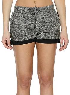 063c1cbd5f9834 icyzone Sweatshorts Kurze Sporthose Damen - Gym Hot Pants Jogger Yoga Kurz  Hose Sport Shorts