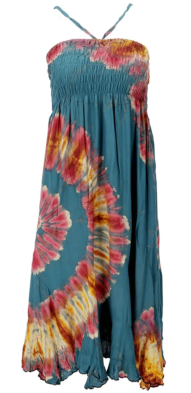 GURU-SHOP - Falda Hippie Convertible, Batik Rock, Hippie Vestido ...